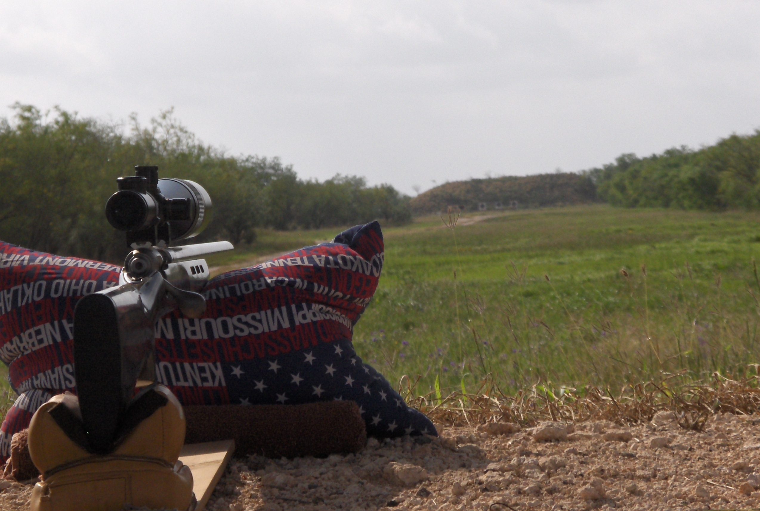 Ground eye view of the targets at 600 yards